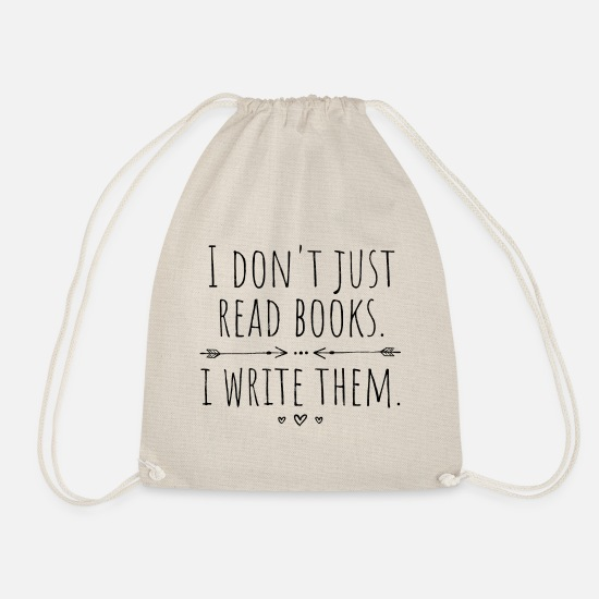 Birthday Bags & Backpacks - Author Authors writer - Drawstring Bag nature