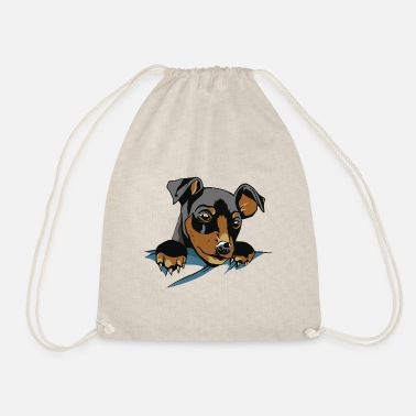 Dog Friend Dog In Pocket - Dog - Dog friend best friend - Drawstring Bag