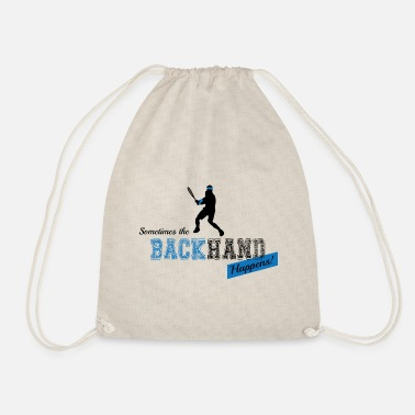 Backhand Tennis Backhand - Drawstring Bag