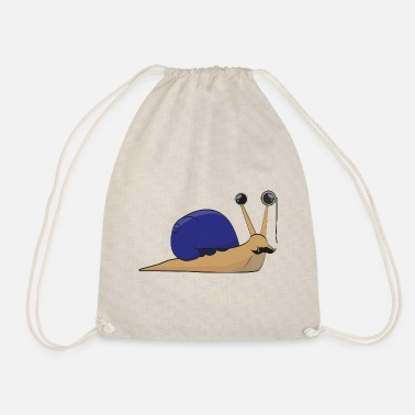 Wealthy The wealthy snail - gift idea - Drawstring Bag