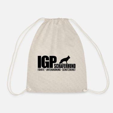Tracks IGP SHEPHERD Wilsigns Dog Sports Gifts IPO - Drawstring Bag