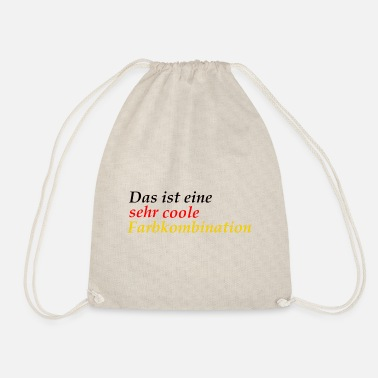 very cool color combination Germany schlanf - Drawstring Bag