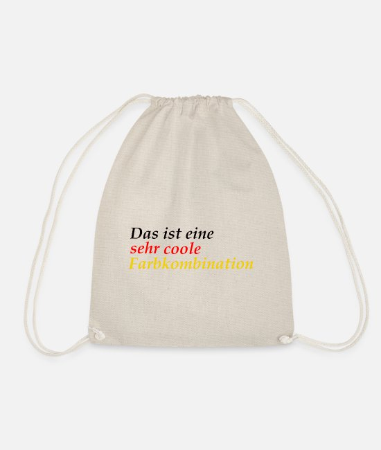 Proud Bags & Backpacks - very cool color combination Germany schlanf - Drawstring Bag nature