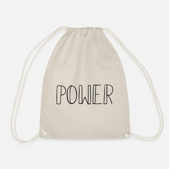 Gift Idea Bags & Backpacks - power - Drawstring Bag nature