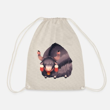 Illustration Yak illustration - Drawstring Bag