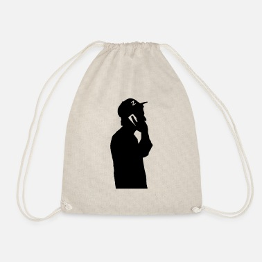 Phone on the phone - Drawstring Bag