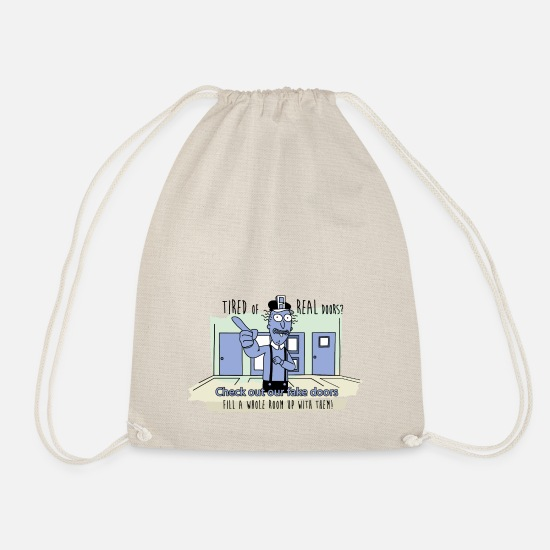 Funny Bags & Backpacks - Rick and Morty - Fake Doors Room - Drawstring Bag nature
