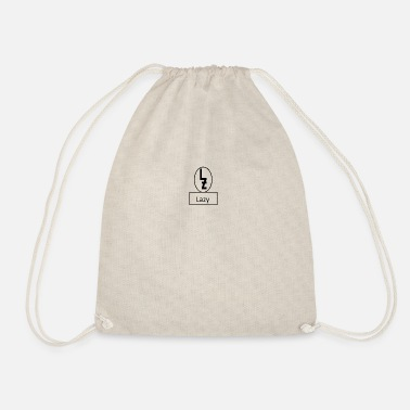 Lazy lazy logo with Lazy - Drawstring Bag