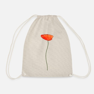 Poppy poppy - Drawstring Bag