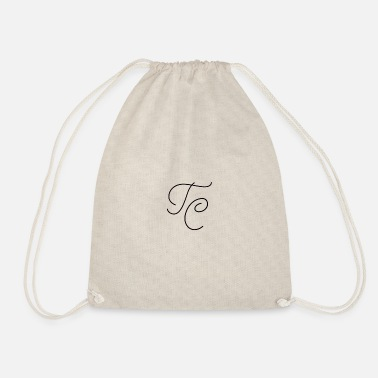 Tc BLACK TC LOGO - Drawstring Bag