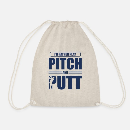 Golf Ball Bags & Backpacks - Putt Golfing Pitch & Putt Pitch Pitch and Putt - Drawstring Bag nature