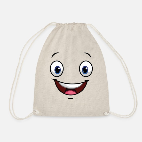 Funny Bags & Backpacks - Face Mimic Funny Funny Funny - Drawstring Bag nature