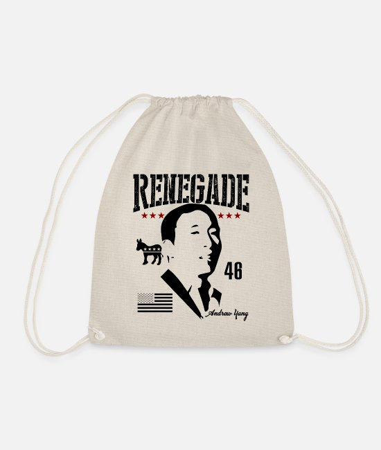 Andrew Yang Joe Rogan Bags & Backpacks - Andrew Yang For President | Renegade - Drawstring Bag nature