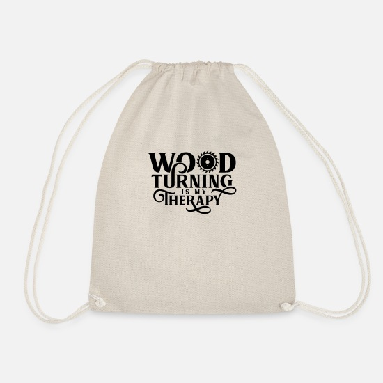 Gift Idea Bags & Backpacks - wood turning - Drawstring Bag nature
