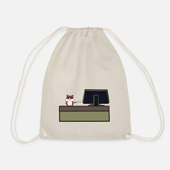Workspace Bags & Backpacks - The boss in the office workspace fun job profession - Drawstring Bag nature