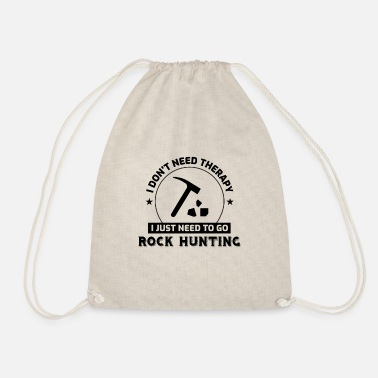 Hunting Rock Collecting Funny Geology Mineral Rockhound - Drawstring Bag