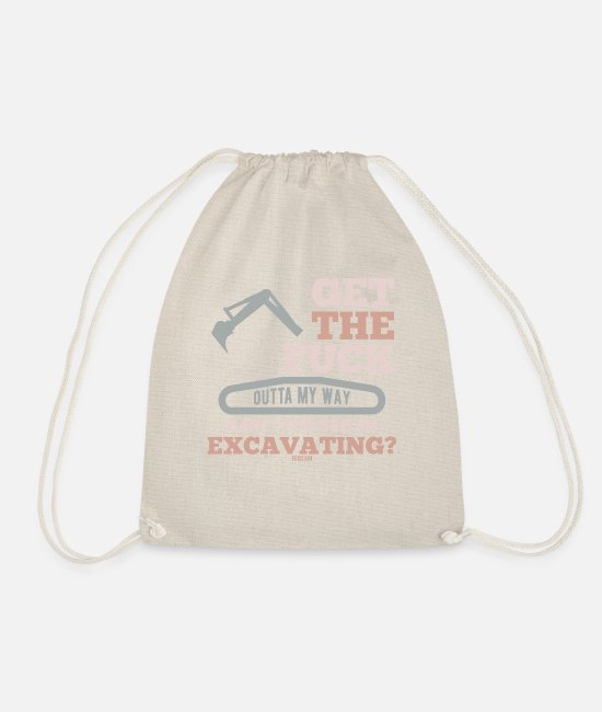 Occupation Bags & Backpacks - funny construction site saying - Drawstring Bag nature