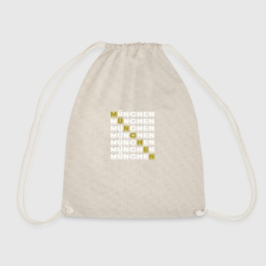 Munich Munich horizontal white - Drawstring Bag