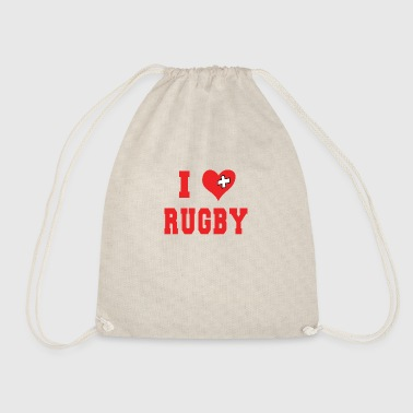 I Love Rugby Football - Drawstring Bag