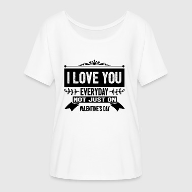 I LOVE VALENTINES love - Women's Batwing-Sleeve T-Shirt by Bella + Canvas
