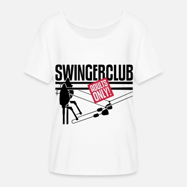 Swinger SWINGERS CLUB - Women's Batwing-Sleeve T-Shirt by Bella + Canvas