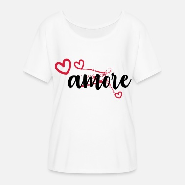 Amorous amore - Women's Batwing-Sleeve T-Shirt by Bella + Canvas
