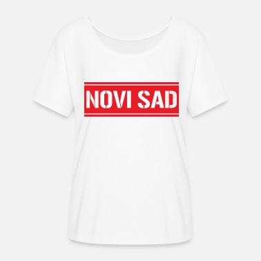 Novi Sad Novi Sad Serbia - Women's Batwing-Sleeve T-Shirt by Bella + Canvas