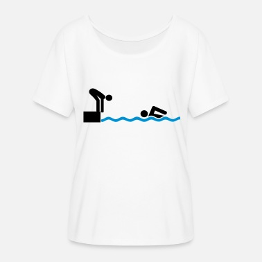 Swimming Teacher swim - Women's Batwing-Sleeve T-Shirt by Bella + Canvas