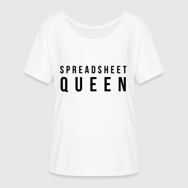 Spreadsheets SPREADSHEET QUEEN - Women's Batwing-Sleeve T-Shirt by Bella + Canvas