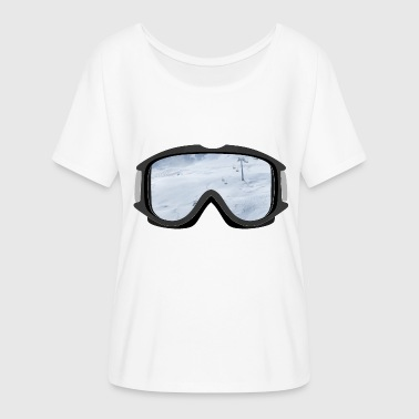 Ski Goggles Ski goggles - Women's Batwing-Sleeve T-Shirt by Bella + Canvas