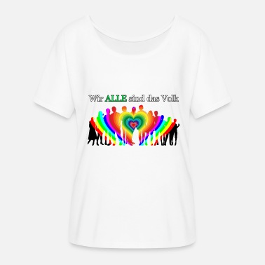 We ALL are the people - Women's Batwing-Sleeve T-Shirt by Bella + Canvas