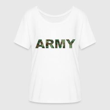 Army Army United States Style Camouflage - Dame T-shirt med flagermusærmer fra Bella + Canvas