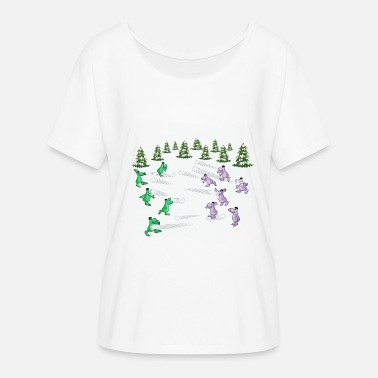 Snowballs Snowball fight - Women's Batwing-Sleeve T-Shirt by Bella + Canvas
