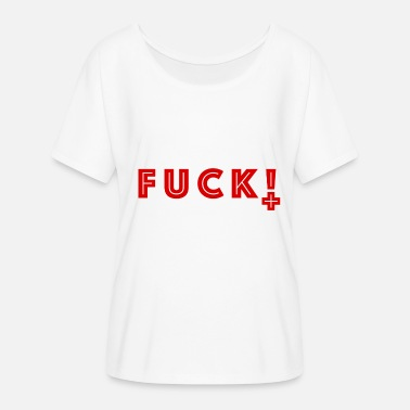 Fuck New World Order Cool swear word shit / fuck in english red - Women's Batwing-Sleeve T-Shirt by Bella + Canvas