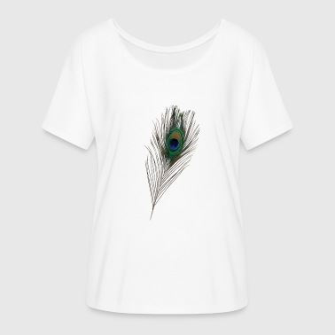 Peacock feather, peacock, bird - Women's Batwing-Sleeve T-Shirt by Bella + Canvas