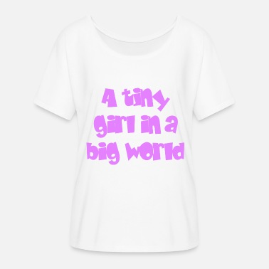 Little Big Little girl - Big World - T-shirt manches chauve-souris Femme Bella + Canvas