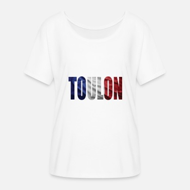 Toulon FRANCE TOULON - Women's Batwing-Sleeve T-Shirt by Bella + Canvas