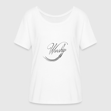 Worship - Women's Batwing-Sleeve T-Shirt by Bella + Canvas