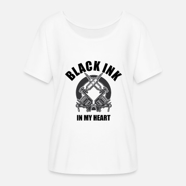 Black Ink Black ink in my heart - Women's Batwing-Sleeve T-Shirt by Bella + Canvas
