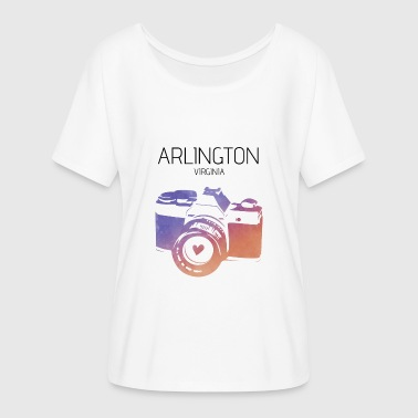 Kamera Arlington Virginia - Frauen T-Shirt mit Fledermausärmeln von Bella + Canvas