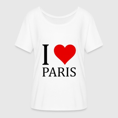 I love Paris! - Frauen T-Shirt mit Fledermausärmeln von Bella + Canvas