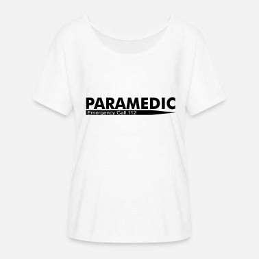 Emergency Call Paramedic Emergency Call 112 - Women's Batwing-Sleeve T-Shirt by Bella + Canvas