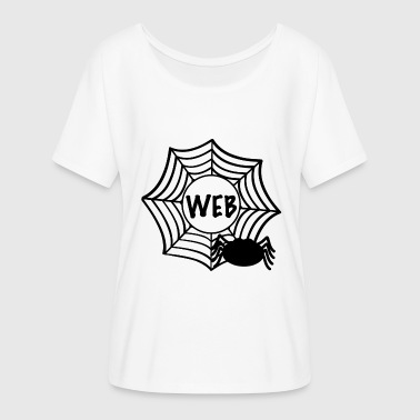Web - Dame T-shirt med flagermusærmer fra Bella + Canvas