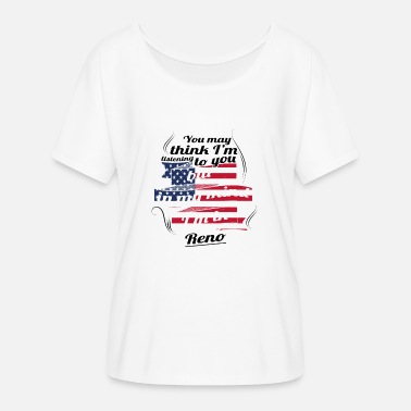 Renos THERAPY HOLIDAY AMERICA USA TRAVEL Reno - Women's Batwing-Sleeve T-Shirt by Bella + Canvas