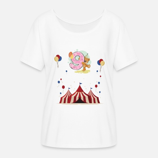 Birthday T-Shirts - 9th Birthday Kids Birthday Gift Birthday - Women's Batwing T-Shirt white