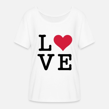 Kultige Motive Love Motiv - Frauen Fledermaus T-Shirt
