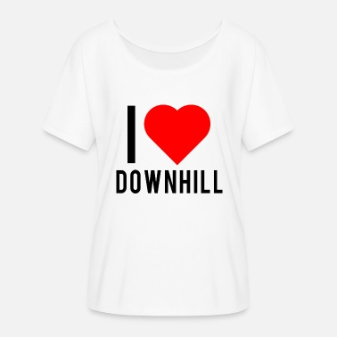 I Love Downhill I love downhill - Women's Batwing-Sleeve T-Shirt by Bella + Canvas