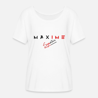 Maxim signature maxim - Women's Batwing-Sleeve T-Shirt by Bella + Canvas