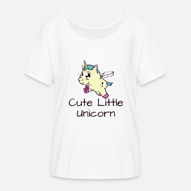 Cute Unicorn Cute little unicorn - cute unicorn - Women's Batwing-Sleeve T-Shirt by Bella + Canvas