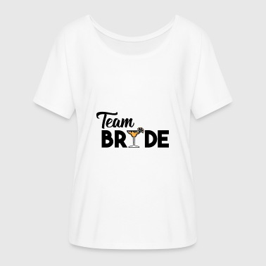 Cocktail Team JGA - The Ultimate Team Bride Cocktail Shirt - Women's Batwing-Sleeve T-Shirt by Bella + Canvas